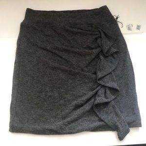 Something Navy Grey Skirt